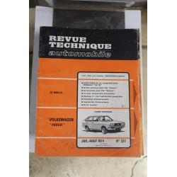 Revues techniques juillet/août 1974 N)337 Volkswagen Passat