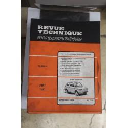Revues techniques septembre 1974 n°338 pour Fiat 126