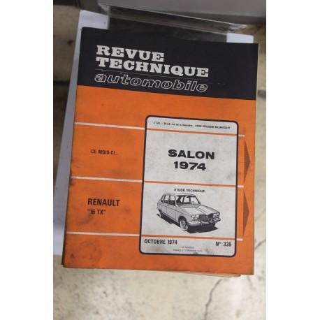 Revues techniques octobre n°339 1974 pour Renault 16TX