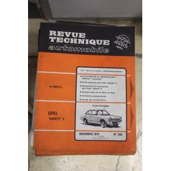 Revues techniques novembre 1974 n°340 Opel Kadett C