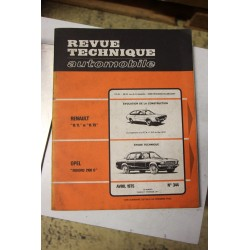 Revues techniques avril 1975 n°344 pour Opel Rekord 2100 D