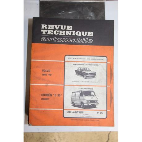 Revues techniques juillet/août 1975 n°347 Citroën C35 essence