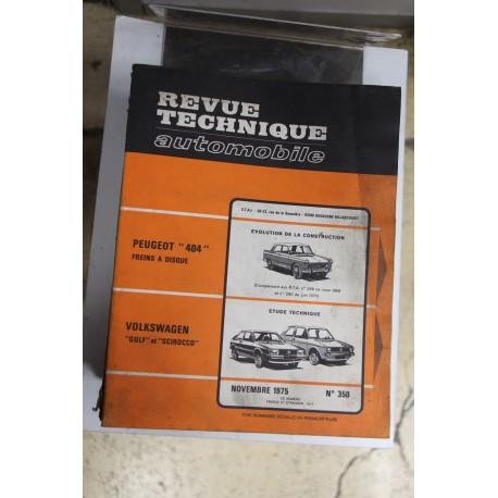 Revues techniques novembre 1975n°350 pour Volkswagen Golf et