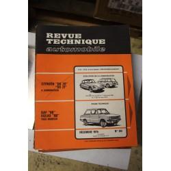 Revues techniques décembre 1975 n°351 Daf 66 et Volvo 66 tous modèles
