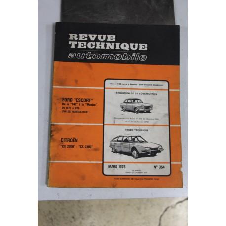Revues techniques mars 1976 n°354 Citroên CX2000 et CX 2200