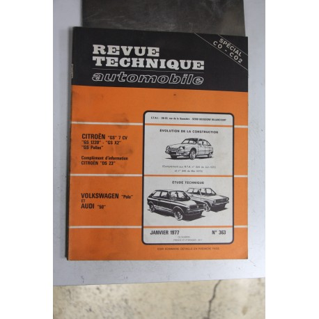 Revues techniques janvier 1977 n°363 pour Volkswagen polo et