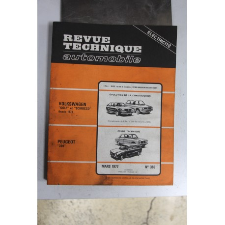 Revues techniques mars 1977 n°365 pour Peugeot 304 et évolution