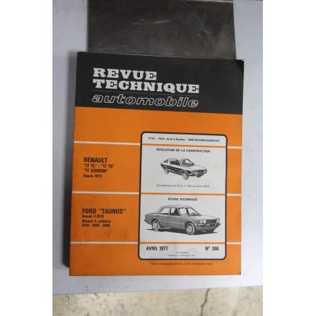 Revues techniques avril 1977 n°366 pour Ford Taunus depuis