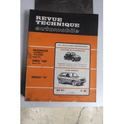 Revues techniques mai 1977 n°368 pour Renault 14 et évolution de la Coccinelle depuis 1972