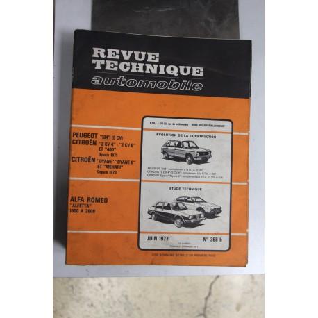 Revues techniques juin 1977 n°368 b pour Alfa Roméo Alfetta