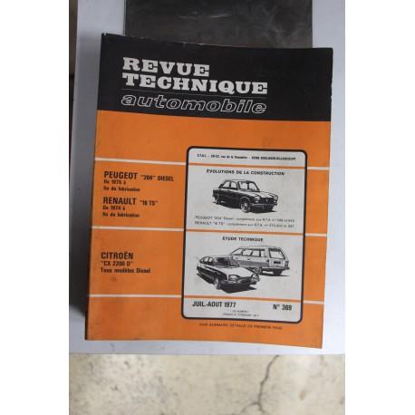 Revues techniques juillet/août 1977 n°369 Citroën CX2200 D tous