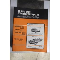 Revues techniques septembre 1977 n°370 pour Toyota Corolla 1200cc