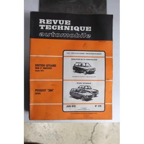 Revues techniques juin 1978 n°379 pour Peugeot 304 Diesel