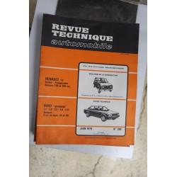 Revues techniques juin 1979 n°390 pour Ford Granada 1,7 2,0 2,3 2,8 et 2,8i 4 cylindres V4 et V6