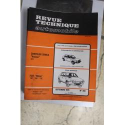 Revues techniques septembre 1979 n°392 pour Fiat Ritmo 60 , 65 et 75