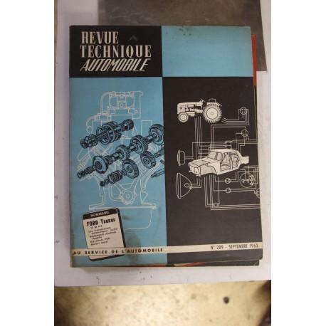 Revues techniques septembre 1963 pour Ford Taunus 12MP4