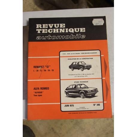 Revues techniques juin 1975 n°346 pour Alfa Roméo pour Alfasud
