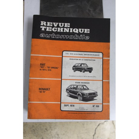 Revues techniques septembre 1976 n°359 pour Renault 30 TS