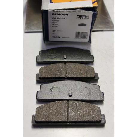 Plaquette de frein pour FIAT 124 pour SEAT 124 1200 pour TALBOT