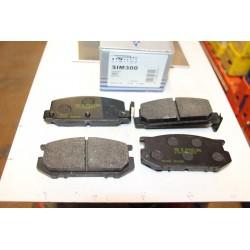 Plaquette de frein pour Nissan Terano type WD21 2,7L TD de 89 à 96 pour Subaru Leone I 1,3L 1,6L 1,8L berline et break 79-8