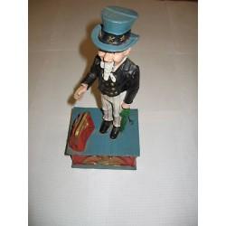 Statue Gentleman américain d'époque Vintage Garage