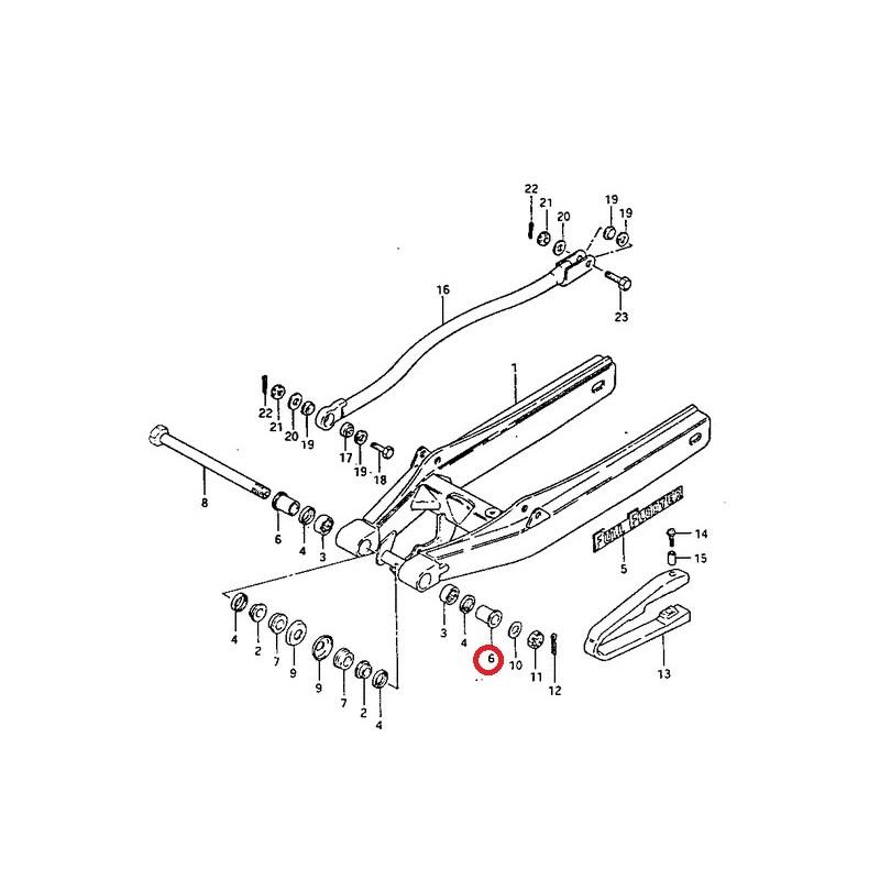 guide de vis bras oscillant suzuki pe175 rm125 rm250 rm465