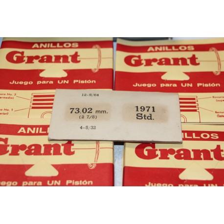 Segments pour 4 pistons diamètre 73,02 mm (2 7/8) Vintage