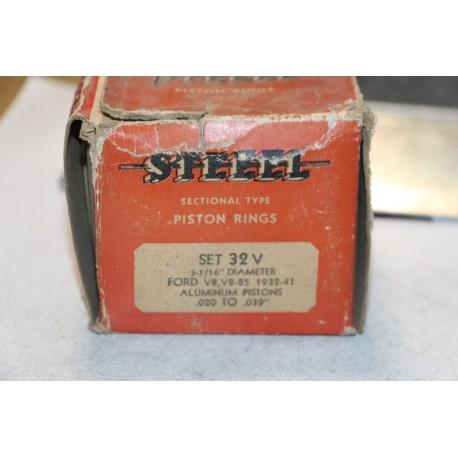 Jeu de sepour gments 8 pistons pour Ford V8 , V8-85  1932-1941 diametre 3-1/16''