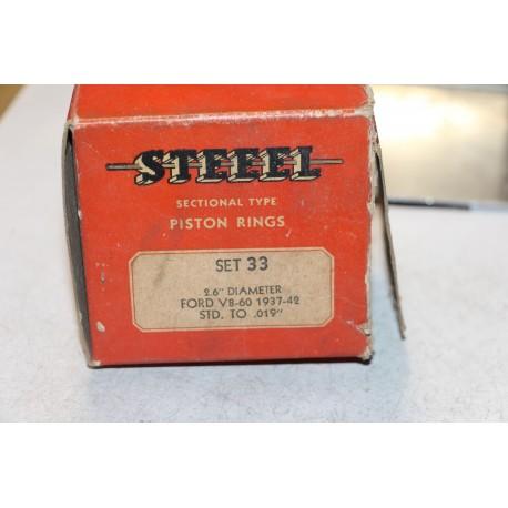 Jeu de sepour gments 8 pistons pour Ford V8-60 1937 à 1942