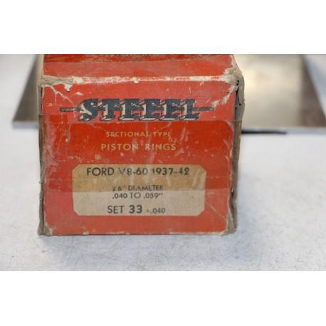 Jeu de sepour gments 8 pistons  pour Ford V8-60 1937 à 1942 diamètre 2,6''
