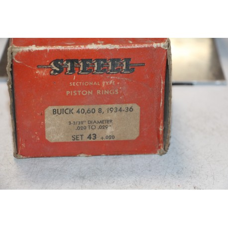 Jeu de segments  8 pistons pour Buick 40 60 8 de 1934 à 1936 diamètre 3-3/32''