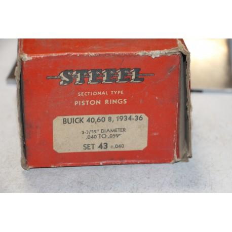 Jeu de segments 8 pistons pour Buick 40 60 8 de 1934 à 1936