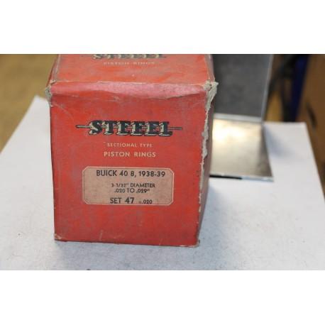 Jeu de segments 8 pistons pour Buick 40 8 de 1938 à 1939 diamètre 3-3/32''