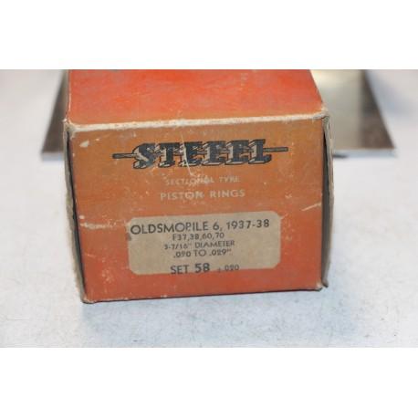 Jeu de sepour gments 6 pistons  pour Oldsmobile  f37 , 38 60, 70 de 1937 et 1938