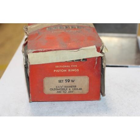 Jeu de sepour gments 8 pistons pour Oldsmobile de 1938 à 1940 diamètre 3-1/4'' 040 à 059''