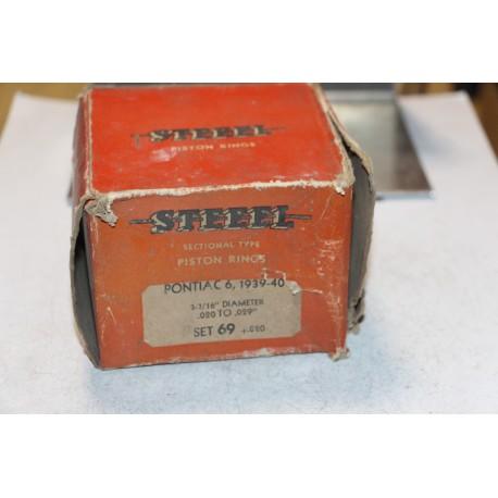 Jeu de sepour gments 6 pistons pour Pontiac 6 de 1939 à 1940