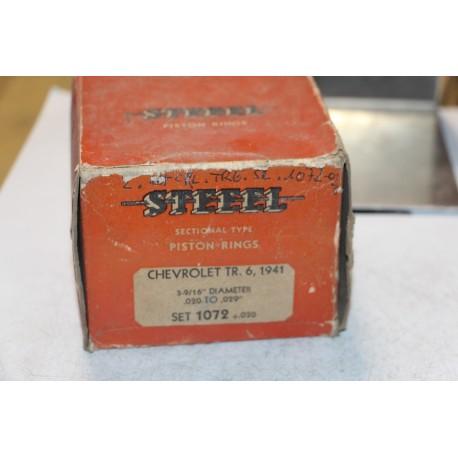 Jeu de sepour gments 6 pistons  pour Chevrolet 6 de 1941 diamètre 3-9/16''  020 à 029''