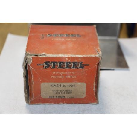 Jeu de sepour gments 8 pistons Nash 8 de 1934 diamètre 3-1/8''