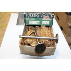 Soupape unitaire Toledo référence T62 tige 8,6 mm fond 37,2 mm longueur 141,1mm