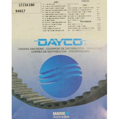 Courroie de distribution Dayco pour Audi pour Seat pour