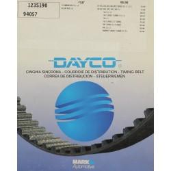 Courroie distribution Dayco pour Fiat 131 Berline ou pour Volvo