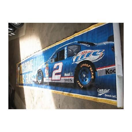 affiche publicitaire course NASCAR/ PRIX SPECIAL NOEL