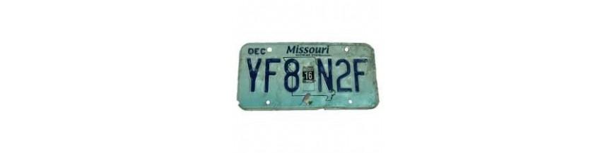 Pi ces d tach es plaque d 39 immatriculation 2 vintage garage - Garage plaque immatriculation ...